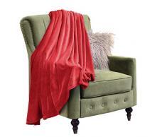 Eternal Moment Fleecedecke, super weiche Flanell-Fleecedecke, Luxus-Bettdecke, warme Plüschdecke für Bett, Couch, Reise Twin rot