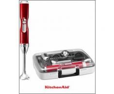kabelloser Akku-Stabmixer mit Zubehörbox Artisan 5KHB3581ECA, 180 Watt, 5 Stufen, KITCHENAID Rot