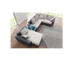 RAUM.ID Wohnlandschaft, wahlweise mit Bettfunktion, Tisch, RGB Lampen oder mit USB Anschluss