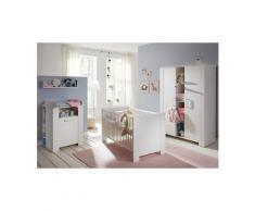 NECKERMANN Komplettzimmer »Oslo« Babybett + Wickelkommode + breiter Kleiderschrank, (3-tlg.) in pinie Struktur NB /weiß, Grün