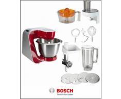 Küchenmaschine »Styline MUM56740«, 900 Watt, mit viel Zubehör, BOSCH Rot
