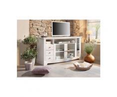 HOME AFFAIRE TV-Tisch, Breite 153 cm, Belastbarkeit bis 40 kg, Weiß