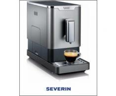 Kaffeevollautomat KV 8090, 1,1l Tank, Kegelmahlwerk , SEVERIN Silber