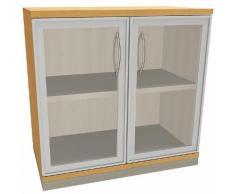 Aktenschrank Braun, fm Büromöbel, 80x78.1x44.2 cm