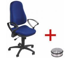 Bürostuhl »Support SY« ohne Armlehnen inkl. Türstopper »Disc« Blau, Topstar