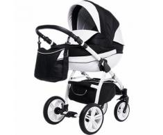 Kombi Kinderwagen Isabel, 2 in 1, White Collection, Black, 2017