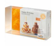 3D-Vollbackform Stufentorte Happy Birthday