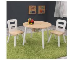 Kindersitzgruppe Round 3-tlg, mit Aufbewahrungsnetz, weiß