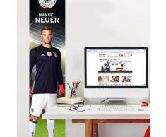 Fototapete Manuel Neuer, selbstklebend, 50 x 250 cm