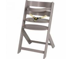 Treppenhochstuhl Domino, Buche massiv, nordic grey lackiert