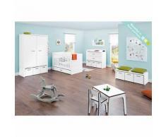Komplett Kinderzimmer ENZO, (Kinderbett, Wickelkommode, Kleiderschrank 2-trg.), weiß/bunt