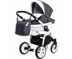 Kombi Kinderwagen Isabel, 2 in 1, White Collection, Grey, 2017