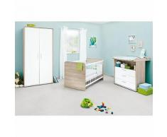 Komplett Kinderzimmer Clemens, (Kinderbett, Wickelkommode, Kleiderschrank 2-trg.), Eiche