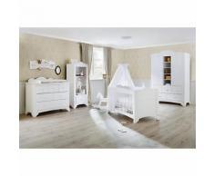 Komplett Kinderzimmer PINO, (Kinderbett, Wickelkommode und Kleiderschrank 2-trg.), Kiefer weiß lasiert