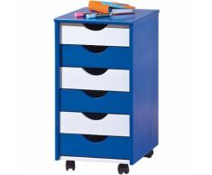ABC Rollcontainer TITJE, blau/weiß