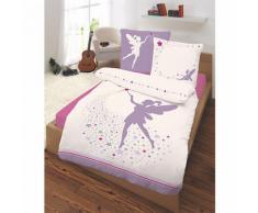 Kinderbettwäsche Fee, Renforcé, violett, 135 x 200 cm