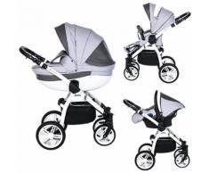 Kombi Kinderwagen Isabel, 3 in 1, White Collection, Marengo, 2017