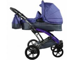 Kombi Kinderwagen Voletto Sport mit Wickeltasche, grau-lila