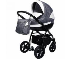 Kombi Kinderwagen Isabel, 2 in 1, Black Collection, Grey, 2017