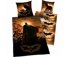 Wende- Kinderbettwäsche Batman, Microfaser, 135 x 200 cm
