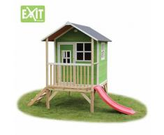 """""""Spielhaus """"Loft"""" mit Veranda und Rutsche, grün, ca. 185 x 260 x 225 cm"""""""