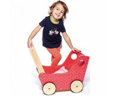 Holz-Puppenwagen pink
