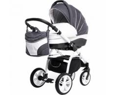 Kombi Kinderwagen Indigo, 2 in 1, White Collection, Grey, 2017