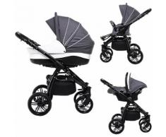 Kombi Kinderwagen Indigo, 3 in 1, Black Collection, Grey, 2017