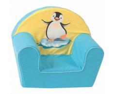Kindersessel Pinguin, eisblau-gelb