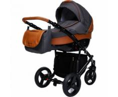 Kombi Kinderwagen Nox, 2 in 1, Black Collection, Brown, 2017