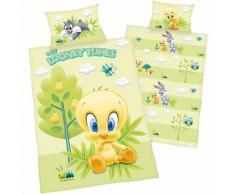 Wende- Kinderbettwäsche Looney Tunes Tweety, Renforcé, 100 x 135 cm