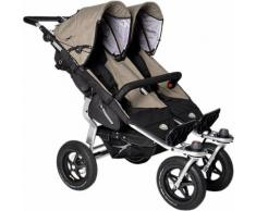 Zwillings- & Geschwisterwagen Twin adventure, Premium, schlamm