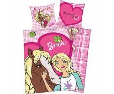 Wende- Kinderbettwäsche Barbie, Renforcé, 135 x 200 cm