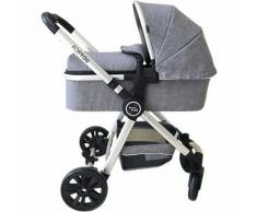 Kombi Kinderwagen FOR YOU, grau melange-silber