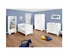 Komplett Kinderzimmer STAR, (Kinderbett, Wickelkommode, Kleiderschrank 2-trg.), weiß/hochglanz