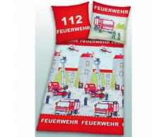 Kinderbettwäsche Feuerwehr, Linon, 135 x 200 cm