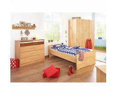 Jugendzimmer NATURA groß, 3-tlg. (Jugendbett, Kommode und 3-türiger Kleiderschrank), FSC®-zertifizierte Buche vollmassiv, geölt