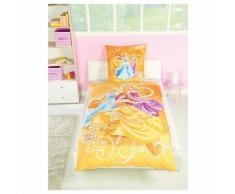 Wende- Kinderbettwäsche, Princess, 135 x 200 cm
