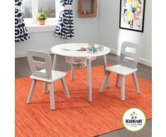 Kindersitzgruppe 3-tlg., grau weiß