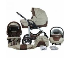 Kombi Kinderwagen Capri, 10 tlg., coffee & brown
