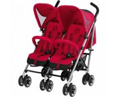 Zwillingsbuggy Twinyx B, Gold-Line, Infra Red-Red, 2017