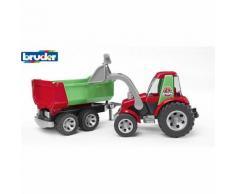 BRUDER 20116 ROADMAX Traktor m. Frontlader und Kippanhänger