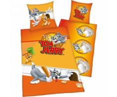 Wende- Kinderbettwäsche, Tom & Jerry, Renforcé, 135 x 200 cm