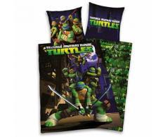 Wende- Kinderbettwäsche Teenage Mutant Ninja Turtles, Linon, 135 x 200 cm
