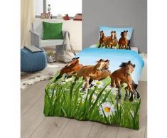 Pferdebettwäsche, Kinderbettwäsche, Pferde, Renforcé, 135 x 200 cm