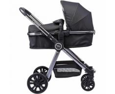Kombi Kinderwagen FOR YOU, schwarz-space grey