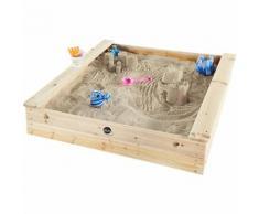 Kinder quadratischer Holz Sandkasten mit Sitzbänken