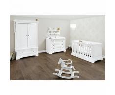 Komplett Kinderzimmer EMILIA, (Kinderbett, Wickelkommode, Kleiderschrank 2-trg.), MDF weiß