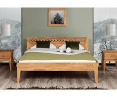Massivholzbett Bett Marne Eiche mit Bettkastenoption