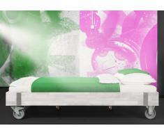 Massivholzbett Bett Warin ohne Kopfteil